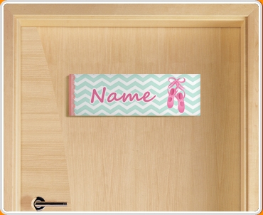 Ballerina Personalised Name Children 39 S Bedroom Door Sign