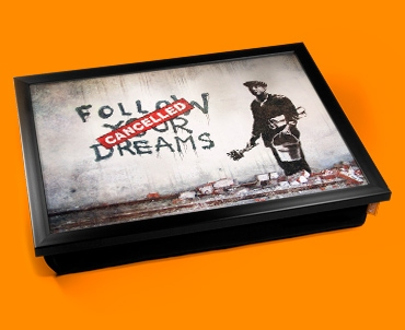 Banksy Dreams Cancelled Cushion Lap Tray