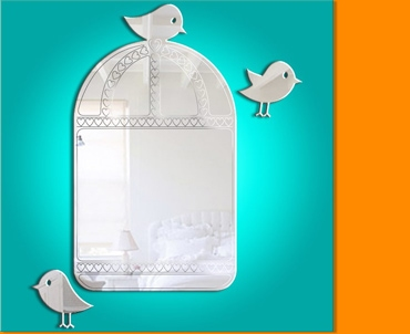 Birdcage Etched Details Mirror