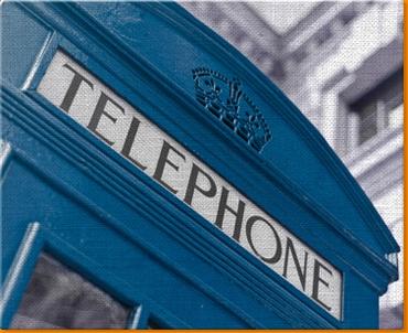Blue Phone Box Canvas Art Print