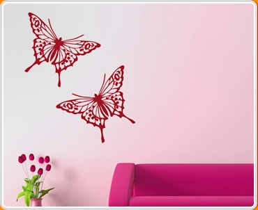 Butterfly Sticker Set of 2 Wall Sticker