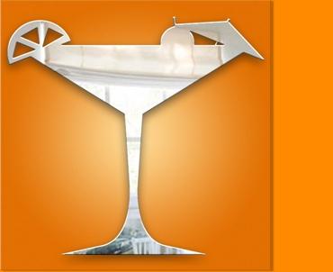 Cocktail Glass Mirror