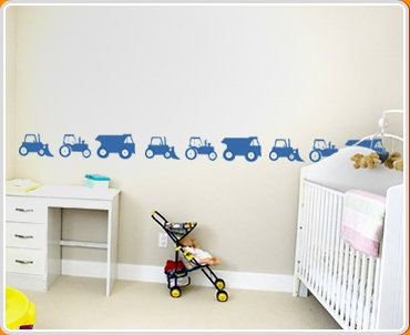 Construction Vehicles Set Wall Sticker