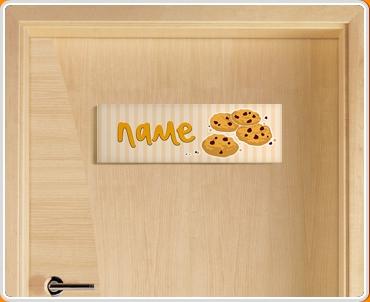 Cookies Personalised Name Children's Bedroom Door Sign