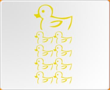 Ducks 2 Set Wall Sticker
