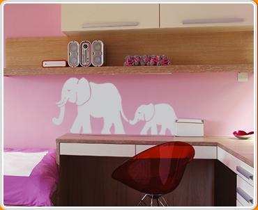 Elephants Set Wall Sticker
