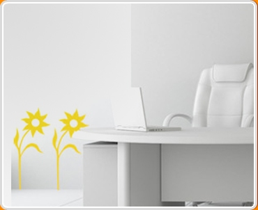 Flower Twin Set Wall Sticker