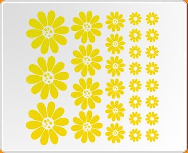 Flowers Sunflower Set Wall Sticker