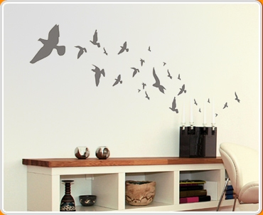 flying birds wall sticker kult kanvas flying birds and tree wall sticker amp reviews