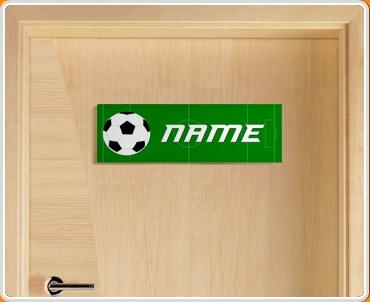 Football Personalised Name Children's Bedroom Door Sign