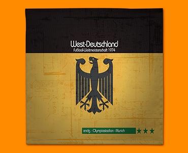 Germany 74 Flag Napkins (Set of 4)