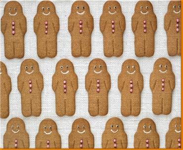 Gingerbread Men Canvas Art Print