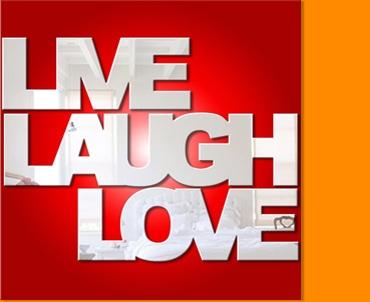 Live Laugh Love Seperate Mirror