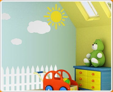 Kico - Picket Fence Wall Sticker