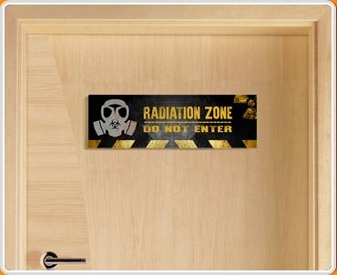 Radiation Zone Children's Bedroom Door Sign