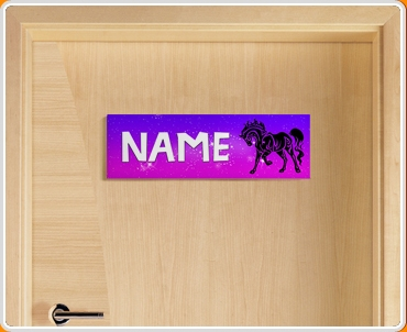 Tribal horse personalised name children 39 s bedroom door sign for Door name signs