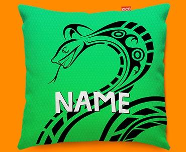 Tribal Snake Personalised Childrens Name Sofa Cushion