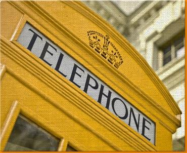 Yellow Phone Box Canvas Art Print