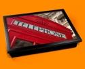 Red Phone Box Cushion Lap Tray