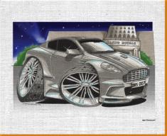 007 Aston Martin Canvas Art Print