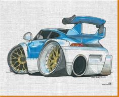 911 GT Racer Canvas Art Print