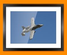 A 10 Thunderbolt Fairchild Republic Plane Framed Print