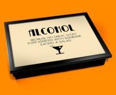Alcohol Typography Lap Tray