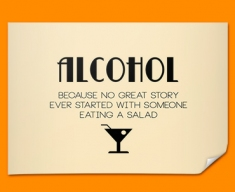 Alcohol Typography Poster
