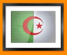 Algeria Flag Framed Print