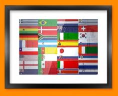 All Flags Framed Print