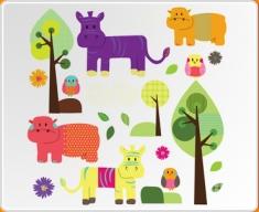 Animal Friends Set Wall Sticker