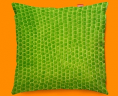 Animal Skin Green Snake Funky Sofa Cushion 45x45cm
