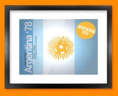 Argentina 74 Flag Framed Print