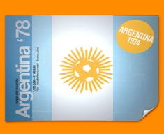 Argentina 74 Flag Poster