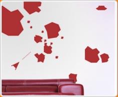 Asteroid Set Wall Sticker