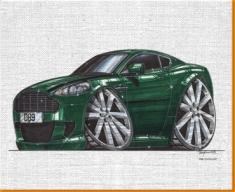Aston Martin DB9 Canvas Art Print