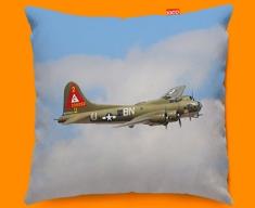 B 17 Flying Fortress Boeing Plane Sofa Cushion