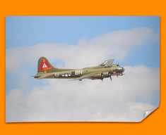 B 17 Flying Fortress Boeing Plane Poster
