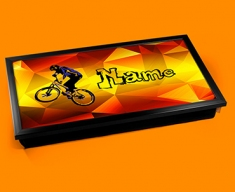 BMX Personalised Childrens Name Cushioned Laptop Lap Tray