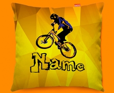 BMX Personalised Childrens Name Sofa Cushion