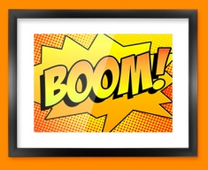 BOOM Comic SFX Framed Print