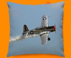 BT 13 Valiant Vultee Plane Sofa Cushion