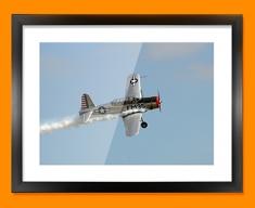 BT 13 Valiant Vultee Plane Framed Print