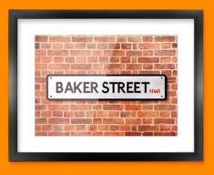 Baker Street UK Street Sign Framed Print