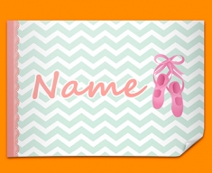 Ballet Personalised Childrens Name Poster