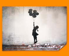 Banksy Balloons Poster