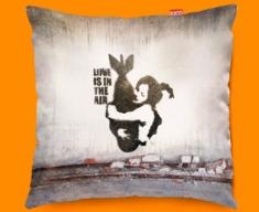 Banksy Bomb Funky Sofa Cushion 45x45cm