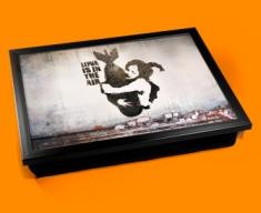 Banksy Bomb Hug Cushion Lap Tray