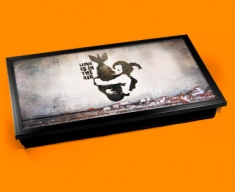 Banksy Bomb Hug Laptop Tray