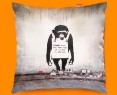 Banksy Chimp Funky Sofa Cushion 45x45cm